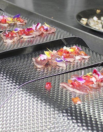 Montando platos de tatki
