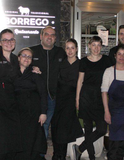 El equipo del Restaurante Borrego
