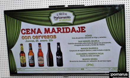 Sorprendente cena maridaje con cervezas en El Palco del Parlamento Andaluz