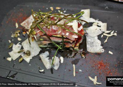 Timbal de verduras e ibéricos