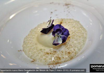 Obrador: Trampantojo de arroz con leche y helado de almendra amarga