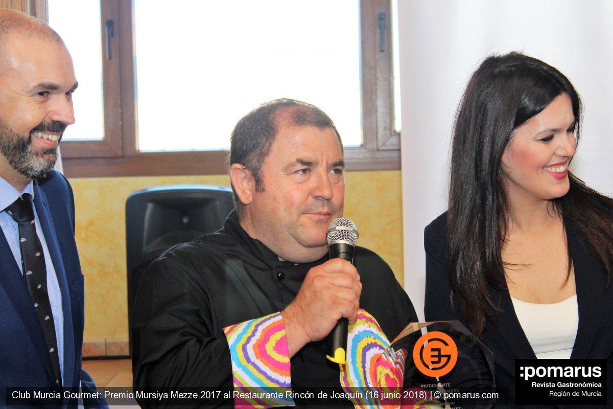 El Club Murcia Gourmet premia a El Rincón de Joaquín
