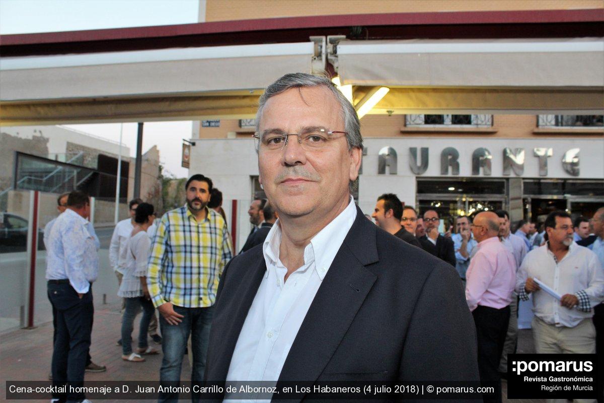 Cena-cocktail homenaje a D. Juan Antonio Carrillo Albornoz, en Los Habaneros (Cartagena)