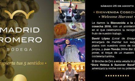 Bienvenida Cosecha (Welcome Harvest) en Madrid Romero Bodega