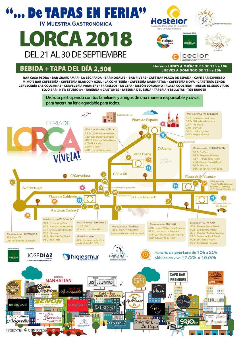 IV Muestra Gastronómica »De Tapas en Feria» en Lorca