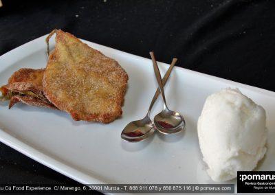 Paparajote y helado de limón