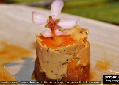 Milhoja de foie trufado y manzana
