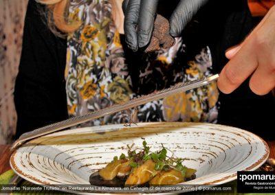 Ravioli cremoso de calamar y trufa