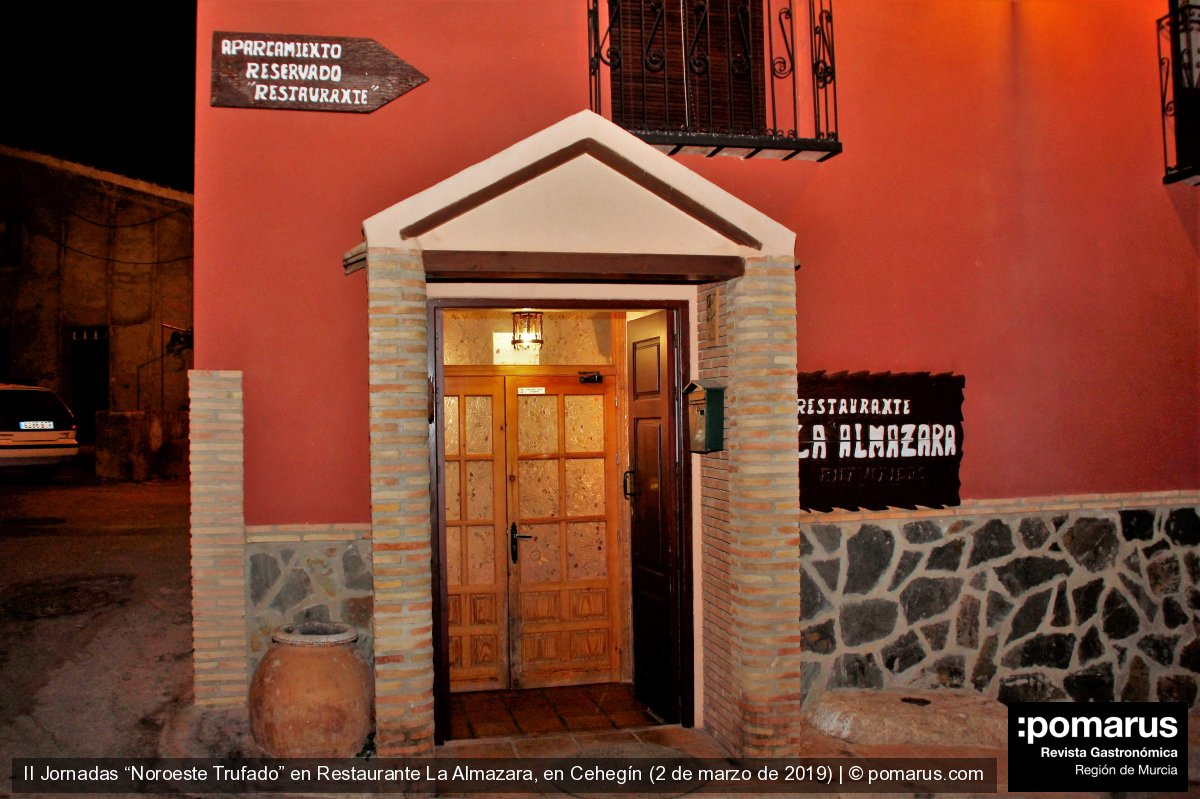 Menú trufado en el Restaurante La Almazara en Cehegín