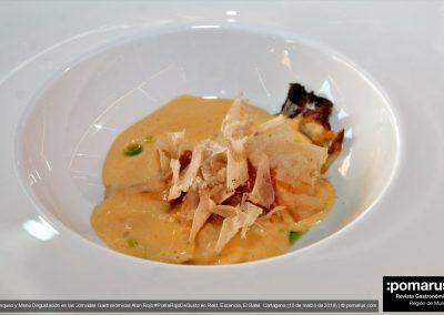 Lasaña koreana de atún rojo y col fermentada (José Cremades, de La Palera)