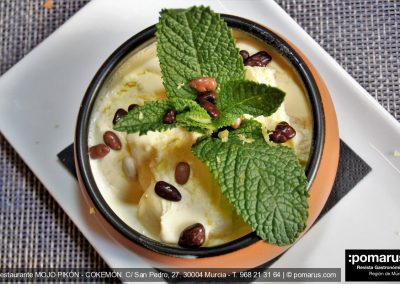 Mouse de gofio y crema de paparajote helado