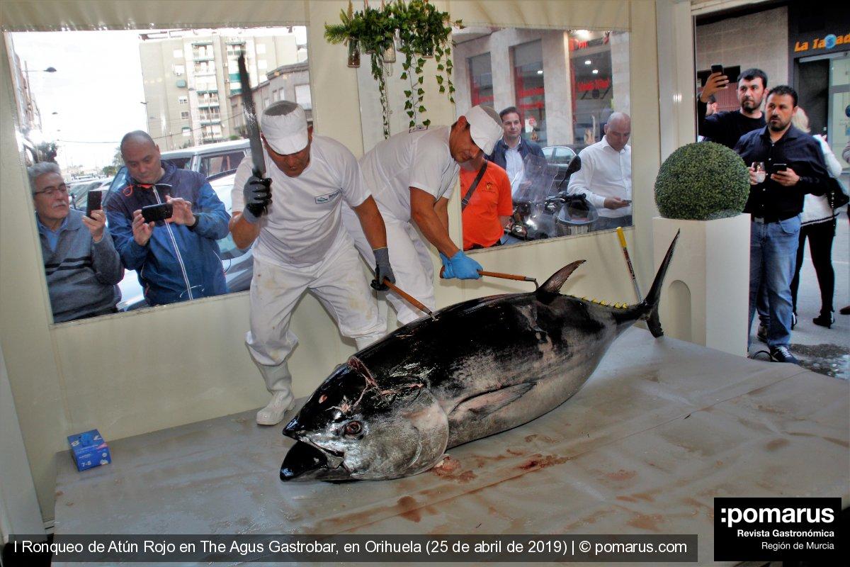 Espectacular ronqueo de atún rojo en The Agus Gastrobar, en Orihuela