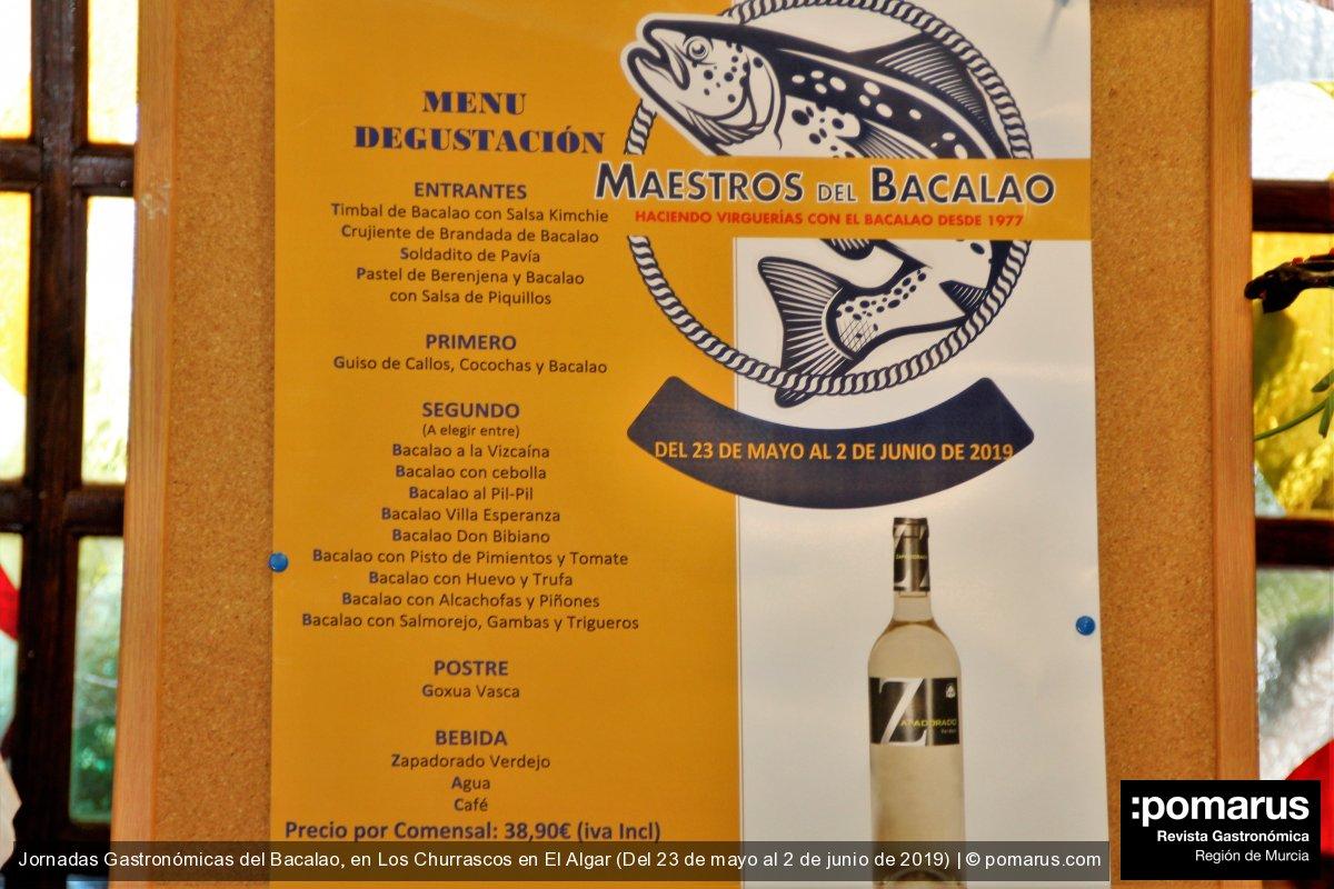 Jornadas gastronómicas del Bacalao en Los Churrascos de El Algar