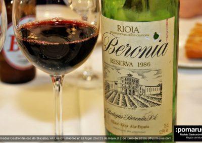 Vino tinto Beronia Reserva 1986, de Bodegas Beronia S.A., D.O. La Rioja