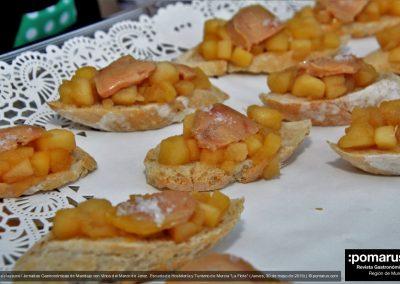 Barquita de foie con manzana compotada