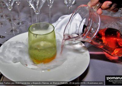 Huevo poché con salsa de trufa, cuscurros de pan y jamón ibérico / Oloroso el Gobernador de José Hidalgo, D.O. Jerez