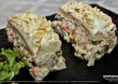 Pastel de ensaladilla (Salas cake)