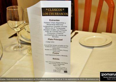 Carta de presentación del menú