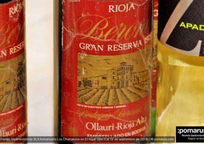 Vino tinto de la Bodega de José María Beerona Gran Reserva 1975, D.O. La Rioja