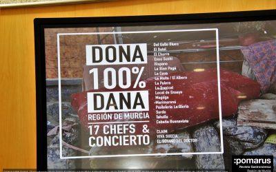 DONA100%DANA: 17 chefs cocinan en favor de los damnificados por la DANA