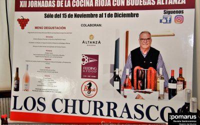 XII Jornadas Gastronómicas de La Rioja con Bodegas Altanza, en Los Churrascos de El Algar