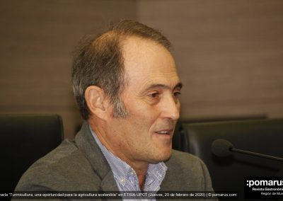 D. Juan José Martinez, Director Cátedra Agricultura Sostenible, Universidad Politécnica de Cartagena