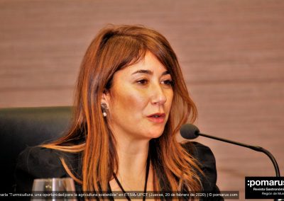 Dª Cristina Mora, concejala delegada de Ciudad Costenible y Medio Ambiente del Ayuntamiento de Cartagena