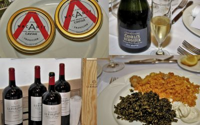 Magnífica degustación de Caviar Nacarii y champagne Charles Heidsieck en el restaurante L'Albufera, del Hotel Meliá Castilla